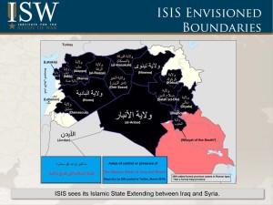 Territori controllati dall'Isis