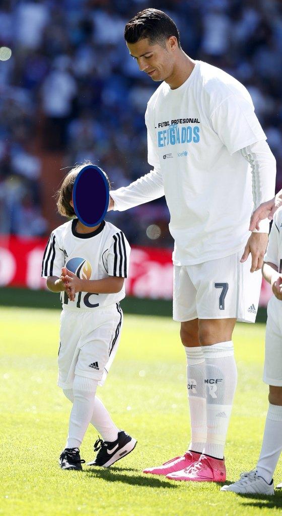 Zaid con Cristiano Ronaldo
