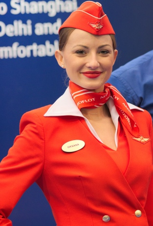 Aeroflot flight attendant